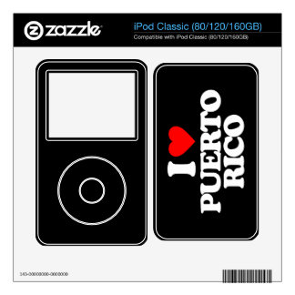 I LOVE PUERTO RICO iPod CLASSIC SKINS