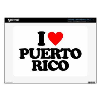 I LOVE PUERTO RICO SAMSUNG CHROMEBOOK SKINS
