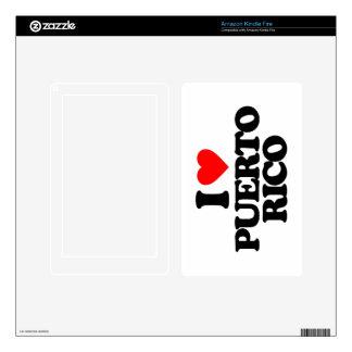 I LOVE PUERTO RICO KINDLE FIRE SKINS