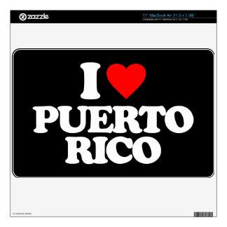 I LOVE PUERTO RICO MacBook AIR SKINS