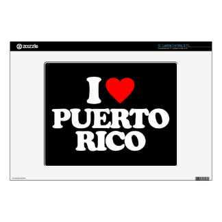 """I LOVE PUERTO RICO DECAL FOR 12"""" LAPTOP"""