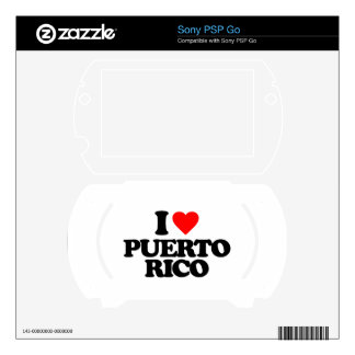 I LOVE PUERTO RICO DECAL FOR THE SONY PSP GO