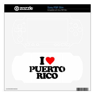 I LOVE PUERTO RICO SKINS FOR PSP SLIM