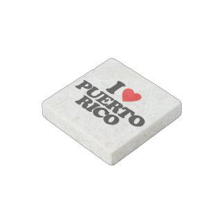 I LOVE PUERTO RICO STONE MAGNET