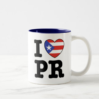 I Love Puerto Rico Two-Tone Coffee Mug