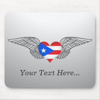 I Love Puerto Rico -wings Mouse Pad