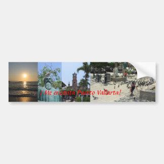 """""""I love Puerto Vallarta!"""" Bumper Sticker Car Bumper Sticker"""