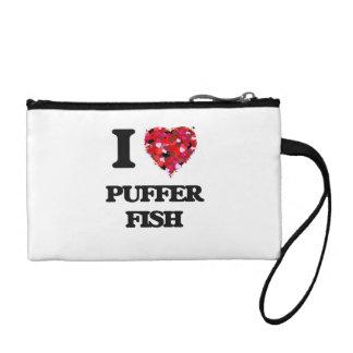 I love Puffer Fish Change Purse