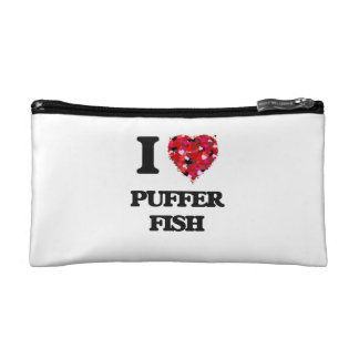 I love Puffer Fish Makeup Bag