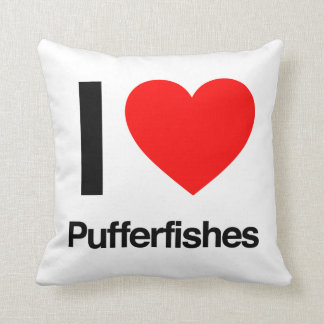 i love pufferfishes pillows