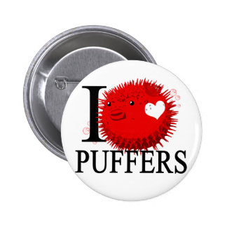 I Love Puffers Buttons