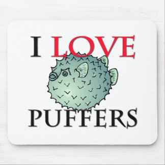 I Love Puffers Mouse Pad
