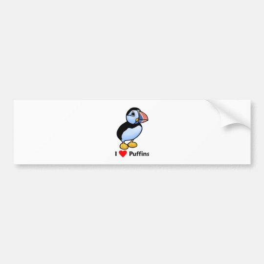I love Puffins Bumper Sticker