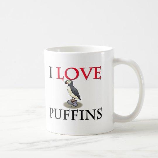 I Love Puffins Coffee Mug
