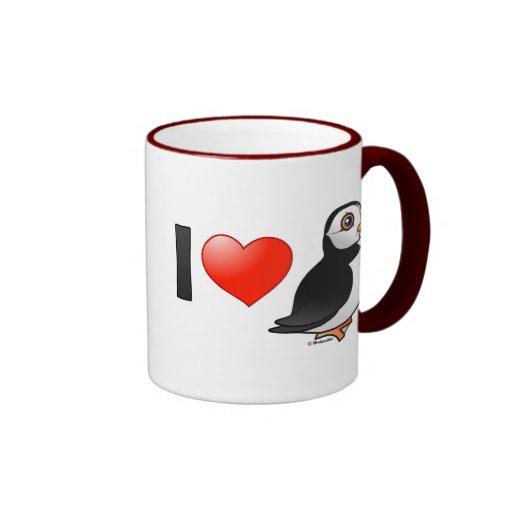 I Love Puffins Coffee Mugs