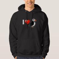 I Love Puffins Men's Basic Hooded Sweatshirt