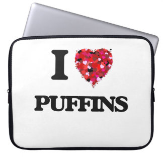 I love Puffins Laptop Computer Sleeve