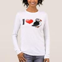 I Love Puffins Women's Basic Long Sleeve T-Shirt