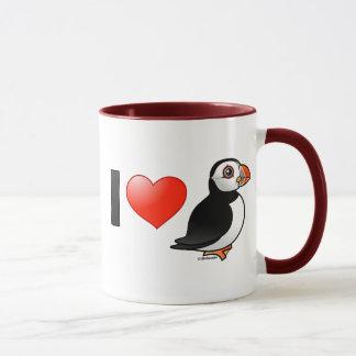 I Love Puffins Mug