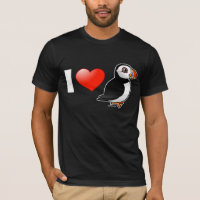 I Love Puffins Men's Basic American Apparel T-Shirt