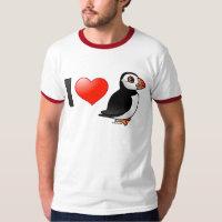 I Love Puffins Men's Basic Ringer T-Shirt