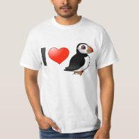 I Love Puffins Men's Crew Value T-Shirt