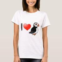 I Love Puffins Women's Basic T-Shirt