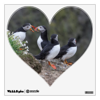 I Love Puffins Wall Decal
