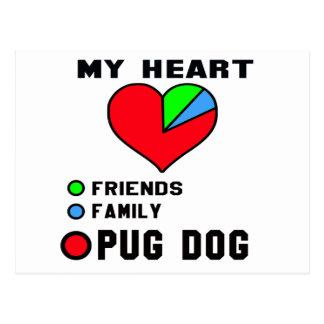 I love Pug. Postcard