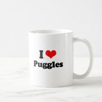 I Love Puggles Mugs