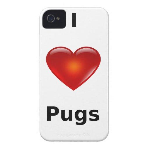 I love Pugs iPhone 4 Case