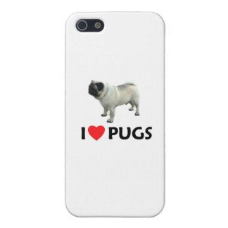 I Love Pugs Case For iPhone SE/5/5s