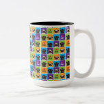 I Love Pugs Color Squares Two Tone Mug