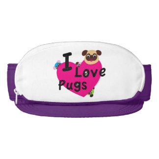 I Love Pugs - Cute Heart Visor