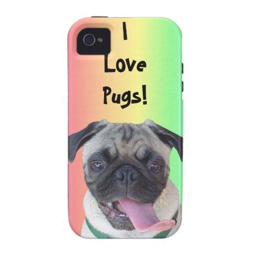 I Love Pugs! iPhone 4 Case