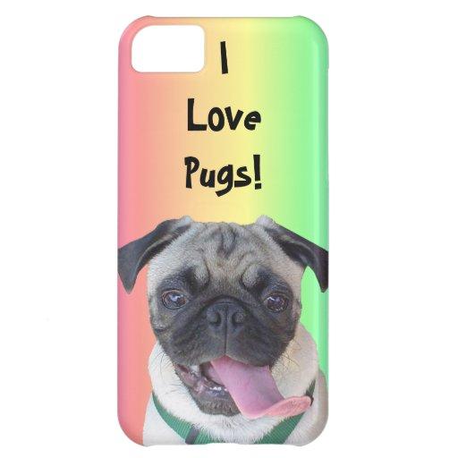 I Love Pugs! iPhone 5 Case