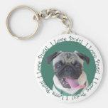 I Love Pugs! Key Chain