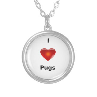 I love Pugs Necklace