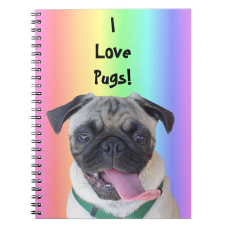 I Love Pugs Notebook
