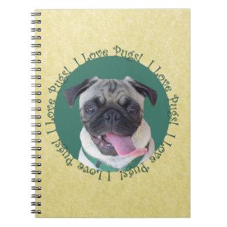 I Love Pugs! Notebook