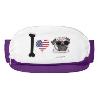 I Love Pugs - Patriotic Visor