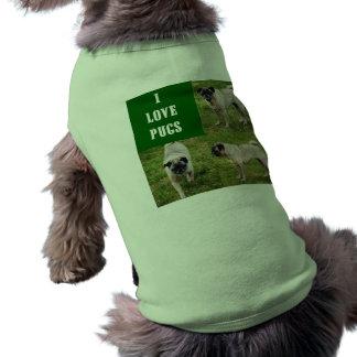 I Love Pugs Pet Clothing