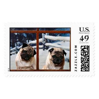 i love pugs! stamp