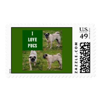 I Love Pugs Postage
