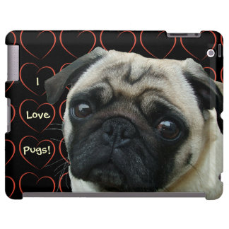 I Love Pugs with Hearts