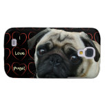 I Love Pugs with Hearts Samsung Galaxy S4 Cases