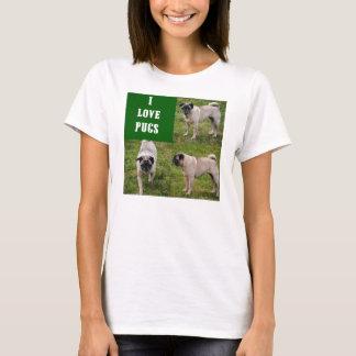 I Love Pugs Women's Shirt
