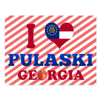 I Love Pulaski, Georgia Postcard