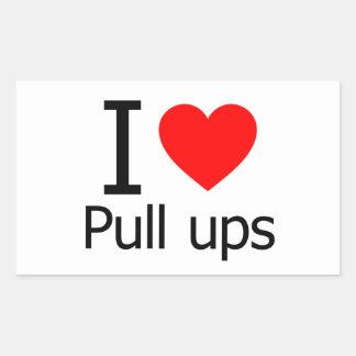 I Love Pull Ups Rectangle Sticker