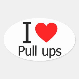 I Love Pull Ups Sticker